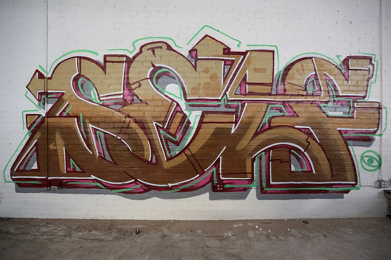 self selfuno graffiti warehouse vernon los angeles piece letters august 2013