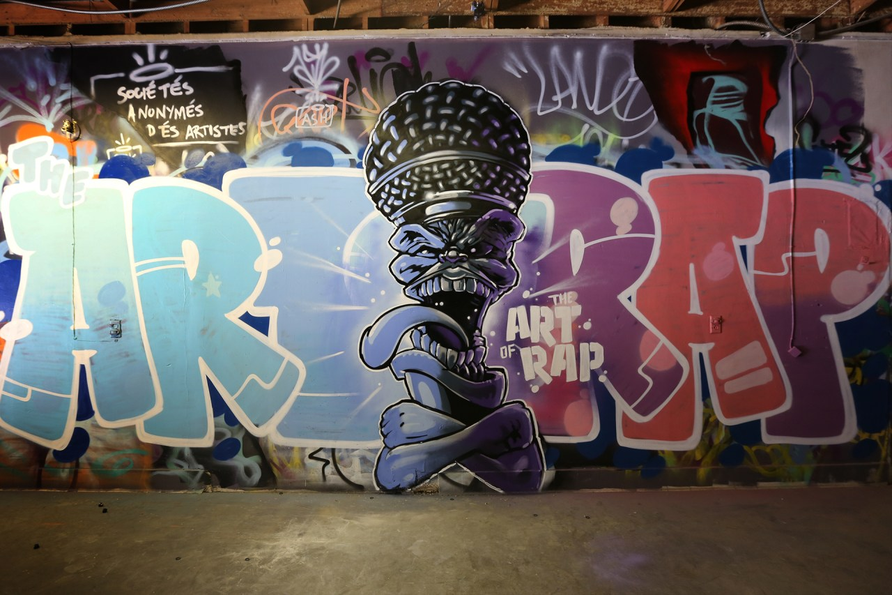 self selfuno art of rap mural letters character promo concert movie commission march 2015