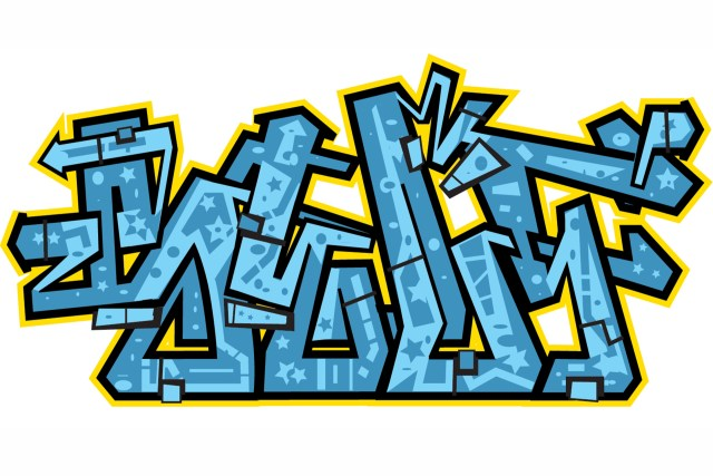 self selfuno digital illustration graffiti letter 2000 arrowstyle piece