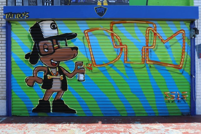 self uno selfuno commission graffiti mural dtm bike club doin the most smile south central may 2015