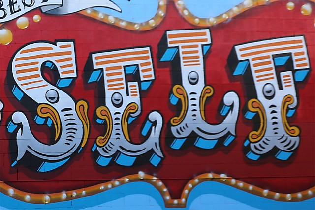 self uno selfuno art mural spraypaint aerosol letters font carnival circus block style commission july 2015