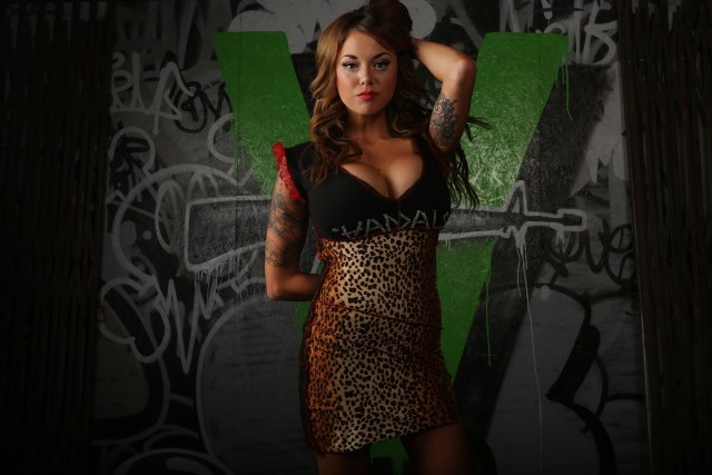 vandals punk rock womens clothing couture model photoshoot graffiti backdrop selfuno self exist cbs crew