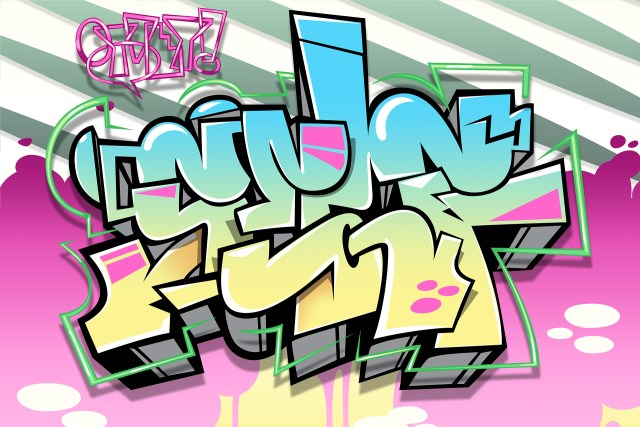 selfuno oy vey digital illustration graffiti piece sketch illustrator photoshop new wave