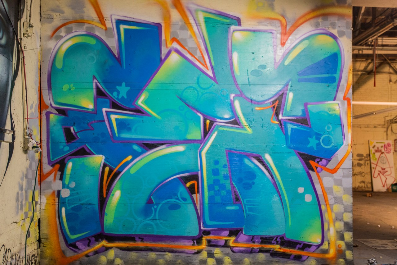 selfuno self party graffiti piece los angeles dtla boyle heights burner letters connections outline funk style january 2017