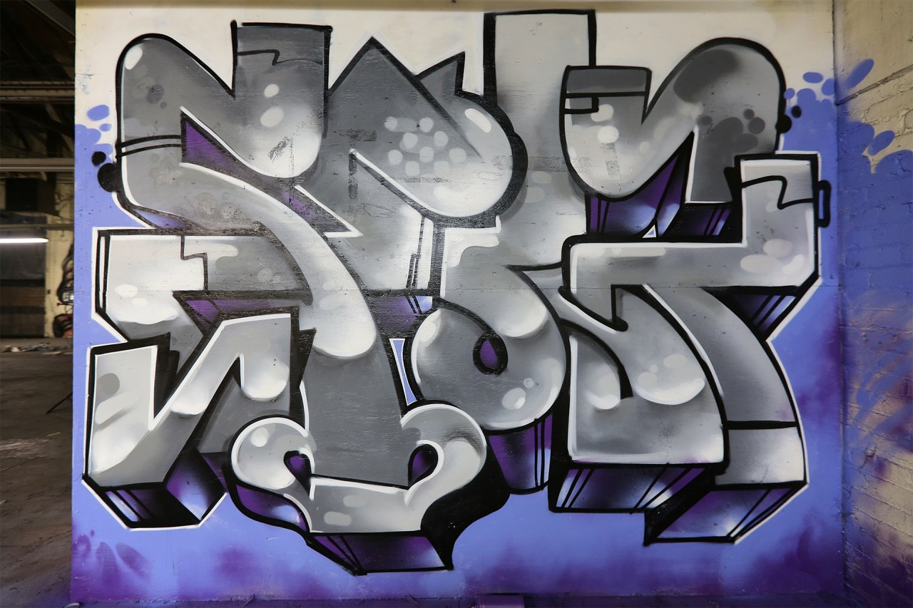 selfuno graffiti piece burner los angeles california february 2017