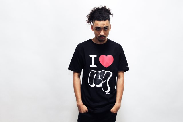 I Heart NY black tee shirt self uno design