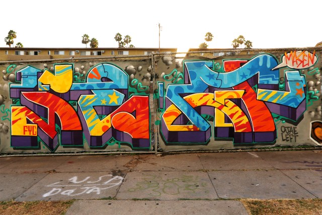 selfuno graffiti art burner piece wildstyle los angeles california august 2017
