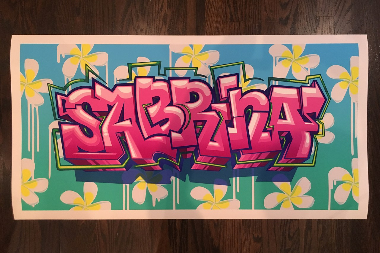 sabrina_custom_graffiti_letters_digital_print_watercolor_paper_letters_burner_piece_selfuno