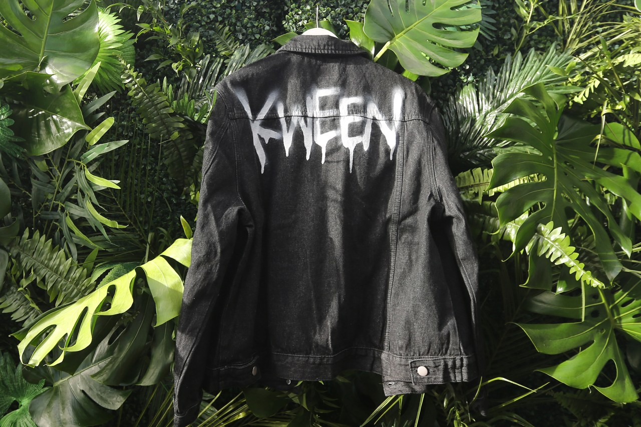 bohoo klughaus custom event graffiti la jacket selfuno tyer april 2017 kween