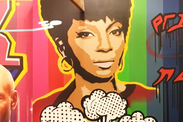 uhura star trek secret hideout mural april 2018 tyer tewsr selfuno santa monica