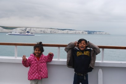 Ferry to France for 2 weeks Europe road trip http://www.selimsraasta.com/2014/06/17/first-europe-road-trip/