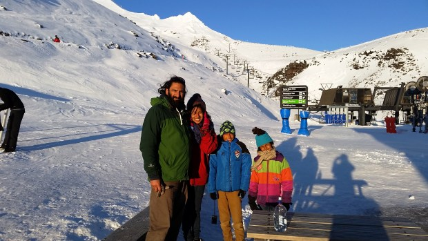 First family skiing holiday