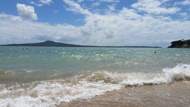 St Heliers Beach with Rangitoto in the background