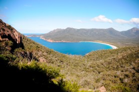 overlooking wineglass bay