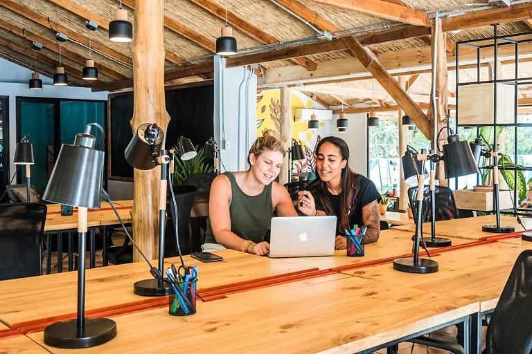 Coworking de Selina en Costa Rica