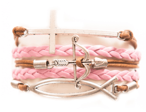 Cross, Bow and Arrow, Fish Charm from Modestly | The Perfect Gift Guide for Your Christian BFF-By Selina Almodovar - Christian Relationship Blogger & Coach