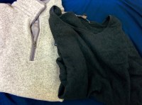 2 sweaters. One lightweight and one fleece.