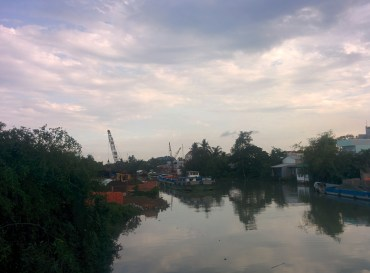 The Developing side of Tra Vinh on the other side.