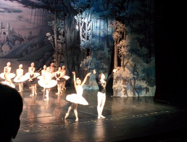 Swan Lake at the Alexandrinskyi Theatre in St. Petersburg.