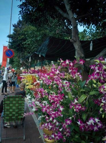 Flower market during Tet.