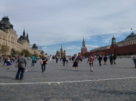 The red square with St. Basil's in the back.