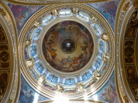Inside St. Isaac's Cathedral.