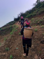 Our guide with other Hmong women following us on our trek.