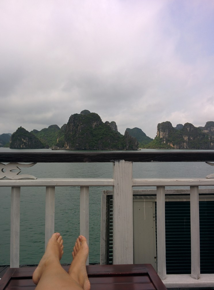 Relaxing on the boat.