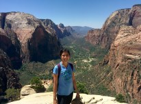 At the top of Angels Landing.