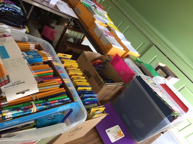 photo of school supply drive 2017