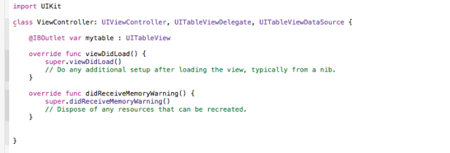 implementing UITableViewDelegate & UITableViewDataSource