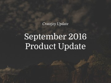 september cratejoy update