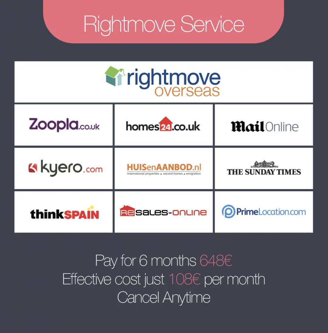 Rightmove Overseas Service  - 6 Months