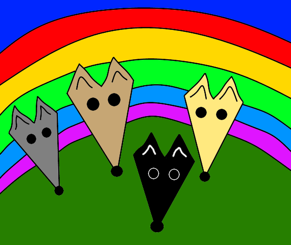 Greyhound rainbow bridge