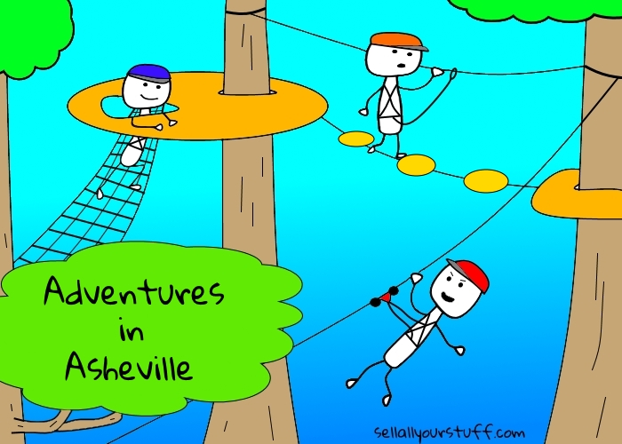 Asheville attractions - Treetops Adventure