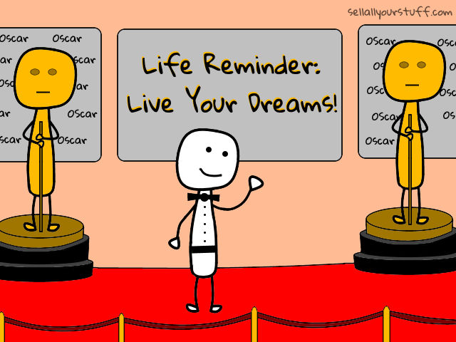 stickman at the Oscars with sellallyourstuff.com