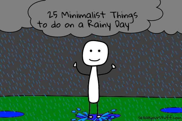 minimalist rainy day