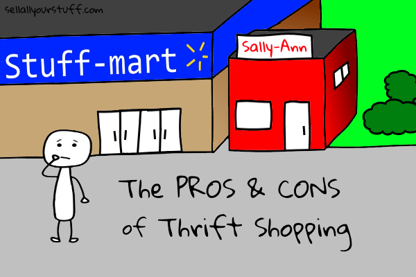 pros and cons of thrift shopping