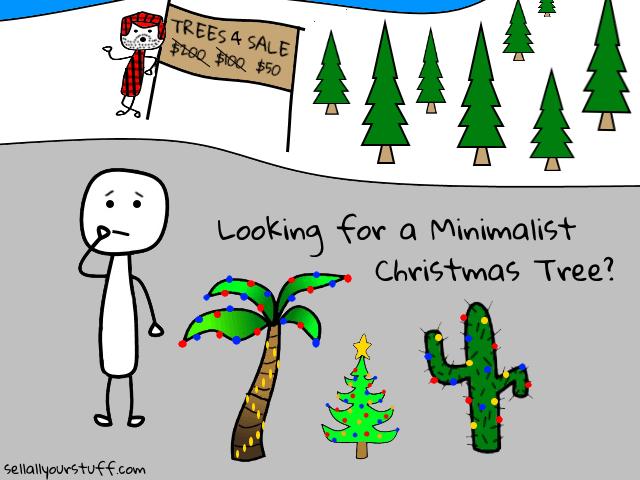 minimalist Christmas tree image