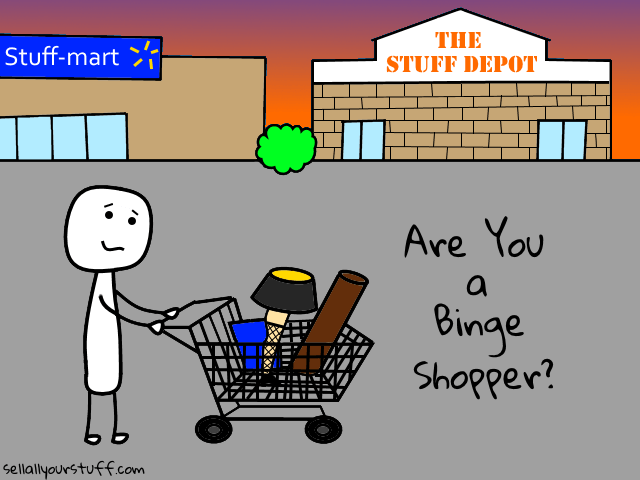 image of binge shopping