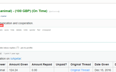 Make Money by Loaning Money on Reddit