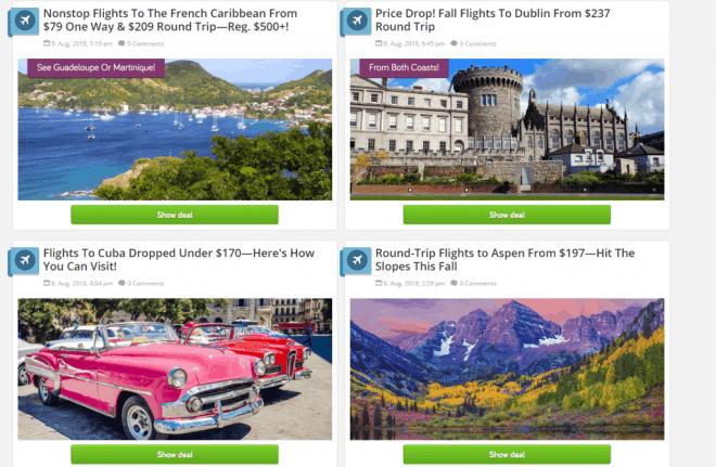 TravelPirates homepage