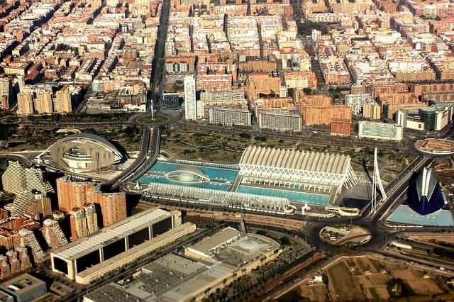 valencia aerial view