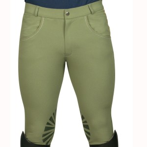 Pantalon Homme Lorenzo Flags and Cup Vert Olive Kaki En Cadence