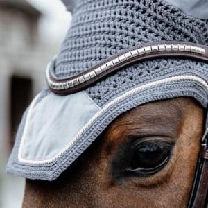 Kentucky Horsewear Bonnet Basic Velvet Gris En Cadence