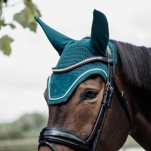 Kentucky Horsewear Bonnet Velvet Emeraude En Cadence