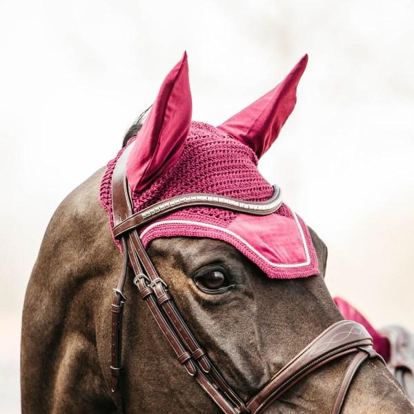 Kentucky Horsewear Bonnet Velvet Fuschia En Cadence