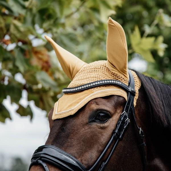 Kentucky Horsewear Bonnet Velvet Moutarde En Cadence
