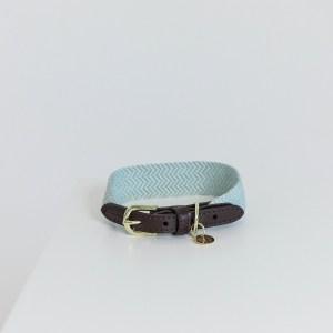 Collier Jacquard Bleu Ciel Kentucky Horsewear Dogwear