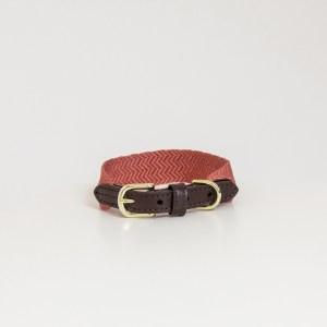 Collier Jacquard Terracotta Kentucky Horsewear Dogwear